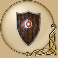 "LARP 24"" by 30"" Shield with shaped top"